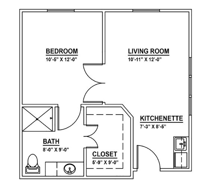 One Bedroom Suite w/Shower